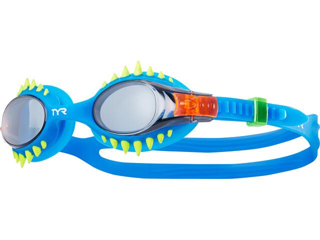 TYR Swimple Spikes Maschera Bambino, smoke/blue